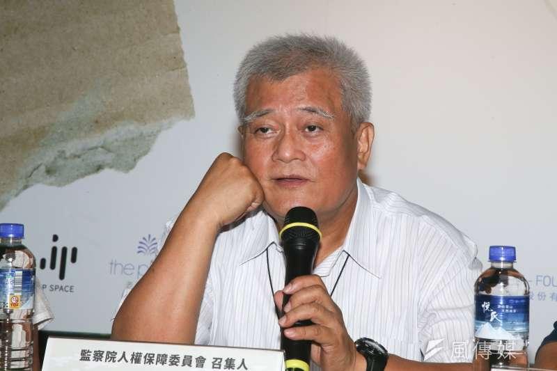 孫大川,監察院人權保障委員會召集人出席2017貧窮人的台北開幕記者會。(陳明仁攝)