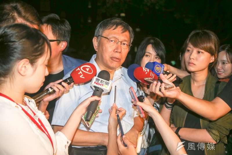 新黨主席郁慕明日前表態力挺柯文哲,對此前國民黨立委孫大千表示,這麼做的原因一是柯文哲的「兩岸一家親」,另外則是對國民黨毫無動靜感到絕望。(資料照,陳明仁攝)