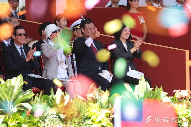總統蔡英文10日出席中華民國106年國慶典禮,但她的國慶講話忘了十多萬來自東南亞的新移民(顏麟宇攝)