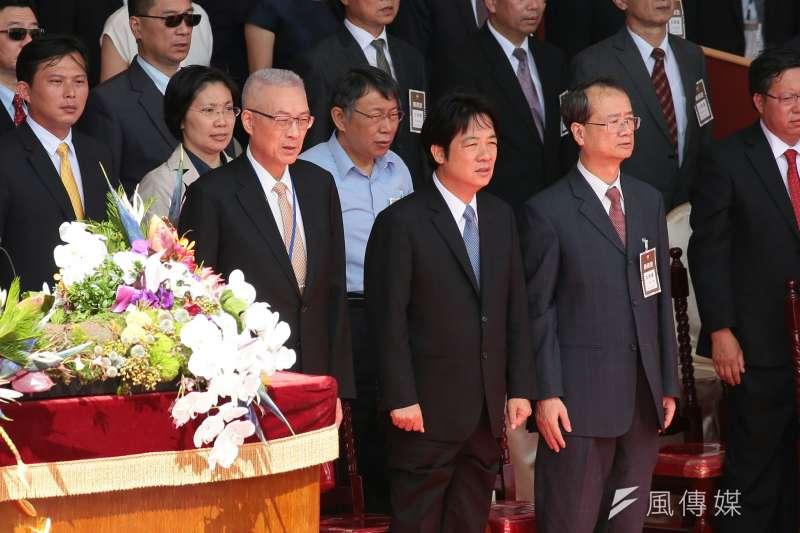 中華民國106年度國慶日,總統府前舉行國慶典禮。(顏麟宇攝)
