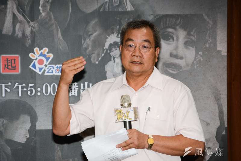 公視製作人呂東熹出席公視本土戲曲節目《搬戲‧人生》媒體記者會。(陳明仁攝)