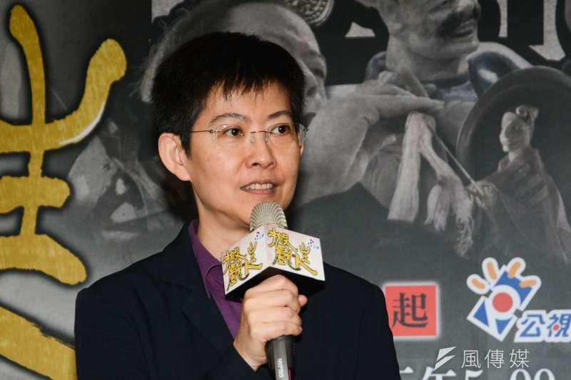 公視總經理曹文傑出席公視本土戲曲節目《搬戲‧人生》媒體記者會。(陳明仁攝)