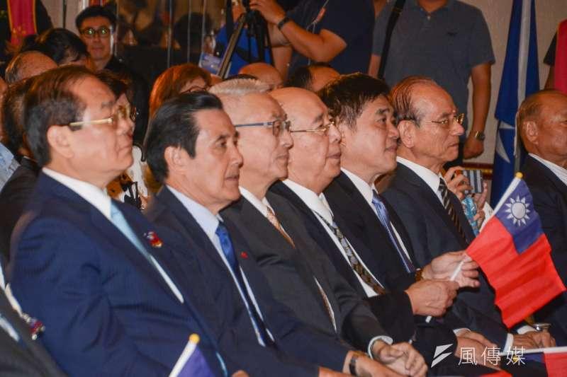國民黨舉行海峽兩岸交流30週年紀念大會,主席吳敦義,前主席馬英九  、吳伯雄、副主席曾永權、副主席郝龍斌等人出席。(陳明仁攝)