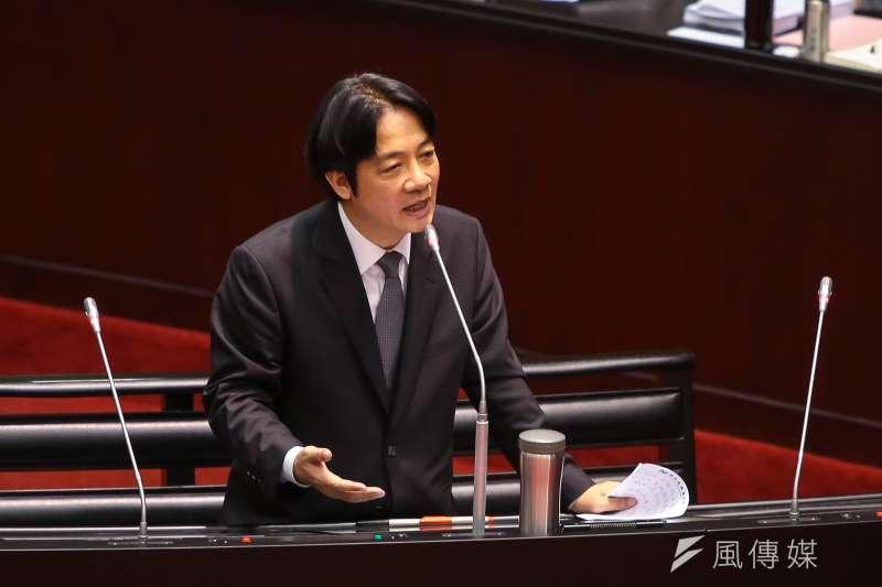 行政院長賴清德(資料照,顏麟宇攝)