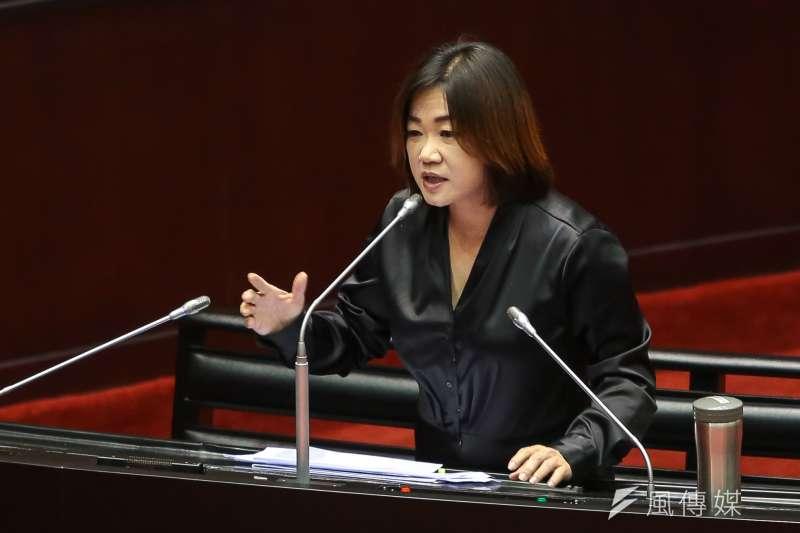 20171013-國民黨立委馬文君13日於立院質詢。(顏麟宇攝)
