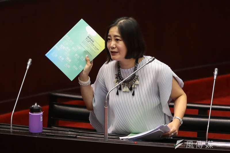 20171013-民進黨立委吳思瑤13日於立院質詢。(顏麟宇攝)