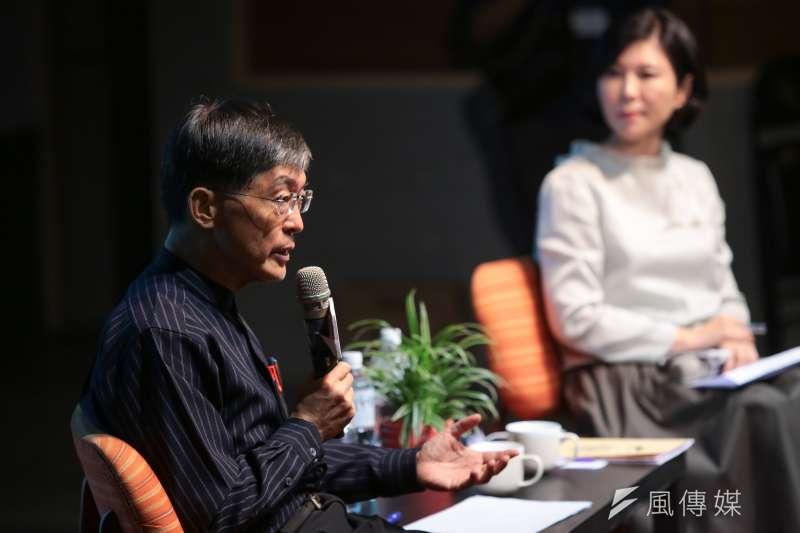 前環保署長魏國彥認為,再生能源發電比率不是市場喊價,不是誰喊得高就比較偉大。(顏麟宇攝)