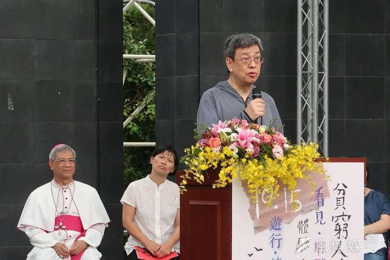 副總統陳建仁15日出席《貧窮人的台北》植樹儀式02。(朱冠諭攝)