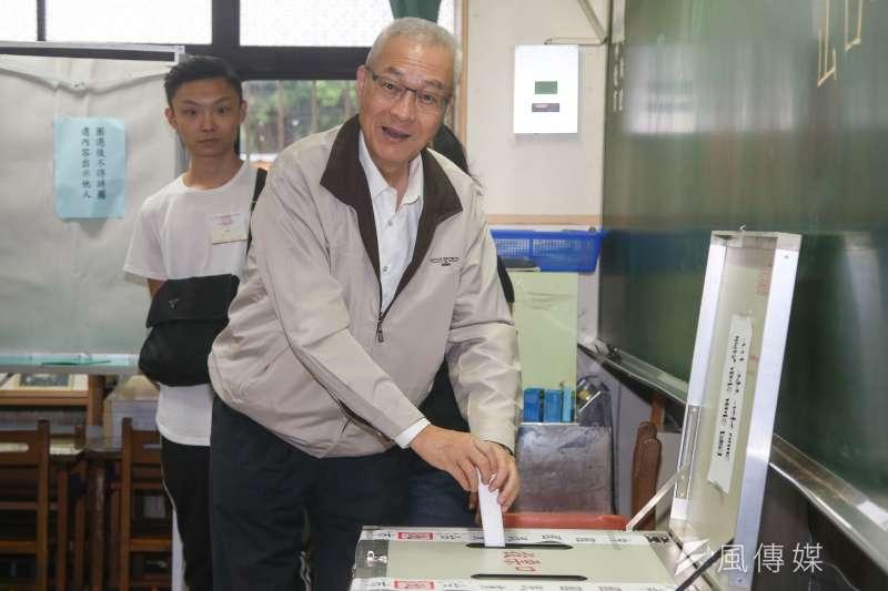 國民黨地方黨部主委選舉結果出爐,黨主席吳敦義表示,他相信每一位勝選的主委都會忠貞於國民黨。(陳明仁攝)
