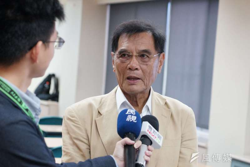 20171016-「台灣危機觀察-台灣新內閣的挑戰與迫切的中國威脅」記者會,陳南天出席。(盧逸峰攝)