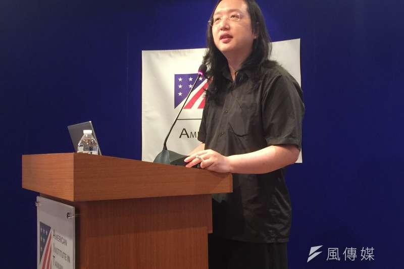 數位政委唐鳳是鞭刑提案的協做人。(資料照片,簡恒宇攝)