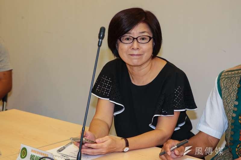20171018-媽媽監督核電廠聯盟秘書長楊順美18日出席「莫讓台灣公民電廠胎死腹中!」記者會。(顏麟宇攝)