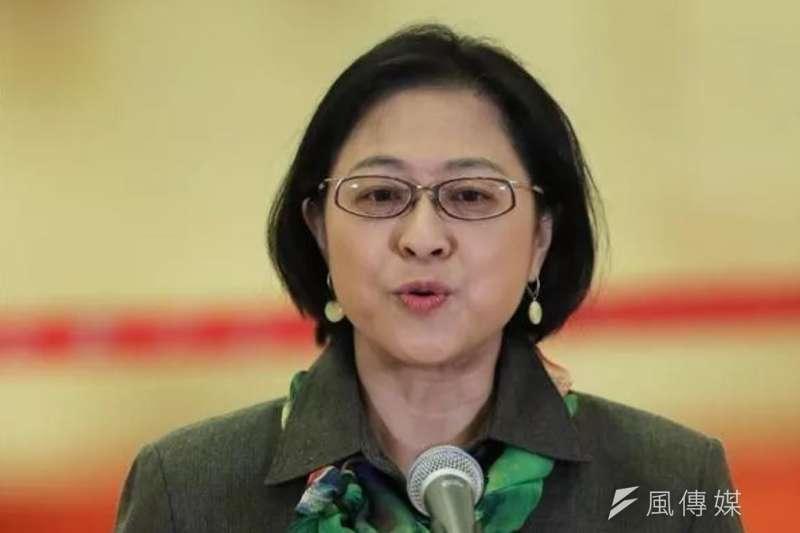 中共十九大「台灣代表」盧麗安,受邀到兩岸青年學者論壇致詞時,現場的台灣學者集體離席,原因是「不想聽統戰言語」。(資料照,取自新華網)