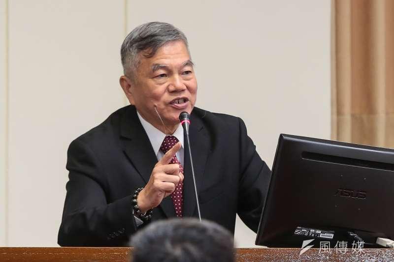 20171018-經濟部長沈榮津18日於立院經濟委員會備詢。(顏麟宇攝)