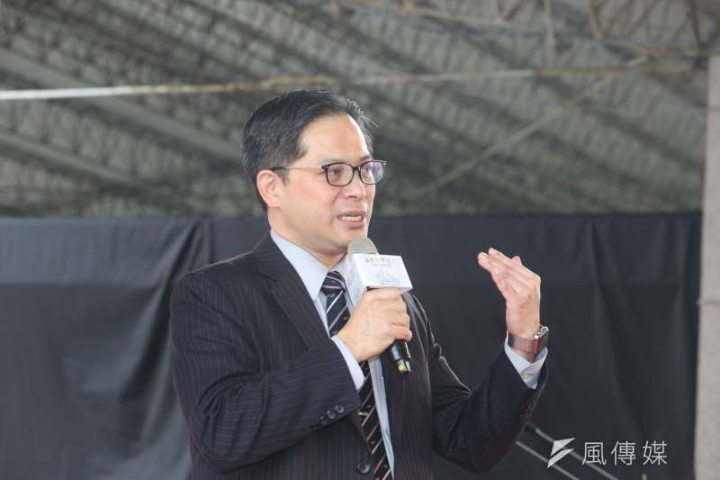 經濟部中小企業處處長吳明機出席社會創新實驗中心開幕儀式。(陳明仁攝)