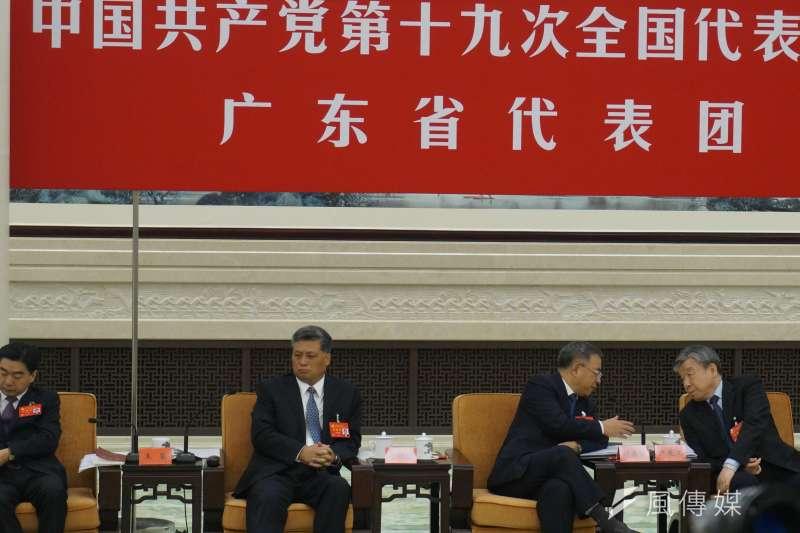 廣東省委書記胡春華對習近平的政治報告積極表「忠」,除呼應提出達到「2020全面建成小康社會」的具體作法,也在中共頭等關心的基層黨建方面提出創新作為。(王彥喬攝)