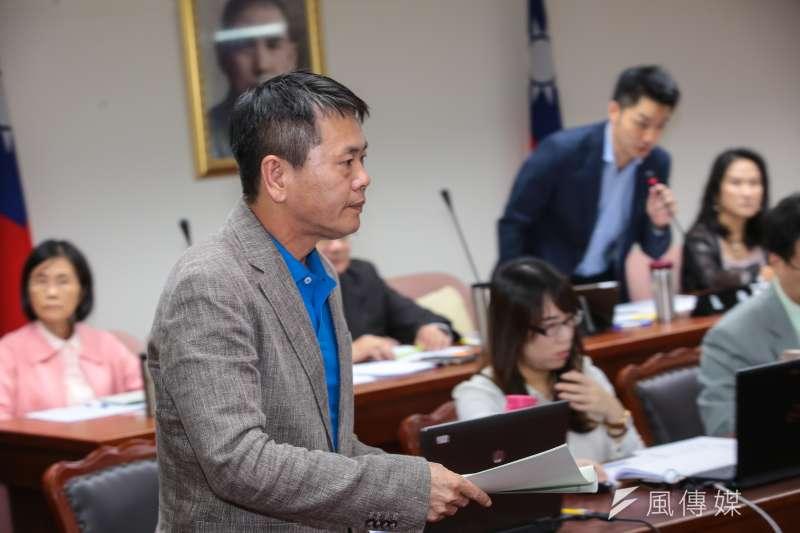 20171019-國民黨立委林為洲19日於衛環委員會質詢。(顏麟宇攝)
