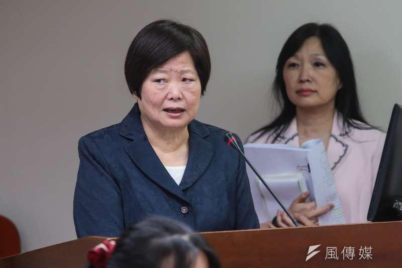 勞動部長林美珠主張,國外並沒有相關立法例,且勞動部目前也有要點及範本,若要修法讓各行各業一體適用,執行上將會相當複雜。(顏麟宇攝)