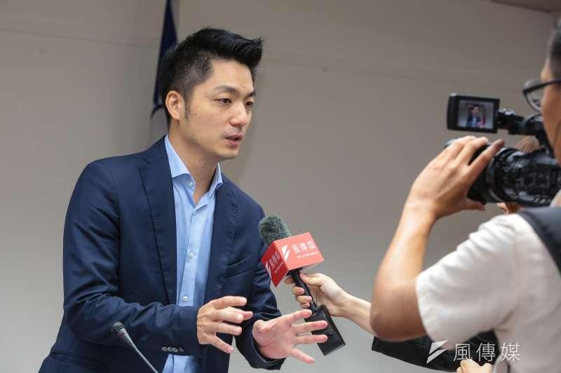 20171019-國民黨立委蔣萬安19日於立院衛環委員會接受風傳媒訪問。(顏麟宇攝)