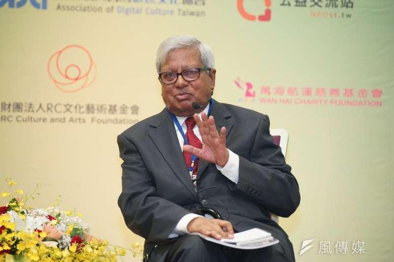 對於NGO工作,BRAC創辦人法茲雷在年會上表示,「我沒有辦法改變孟加拉,孟加拉人要自己去改變孟加拉,所以我必須要去創造這個環境和條件」。(盧逸峰攝)