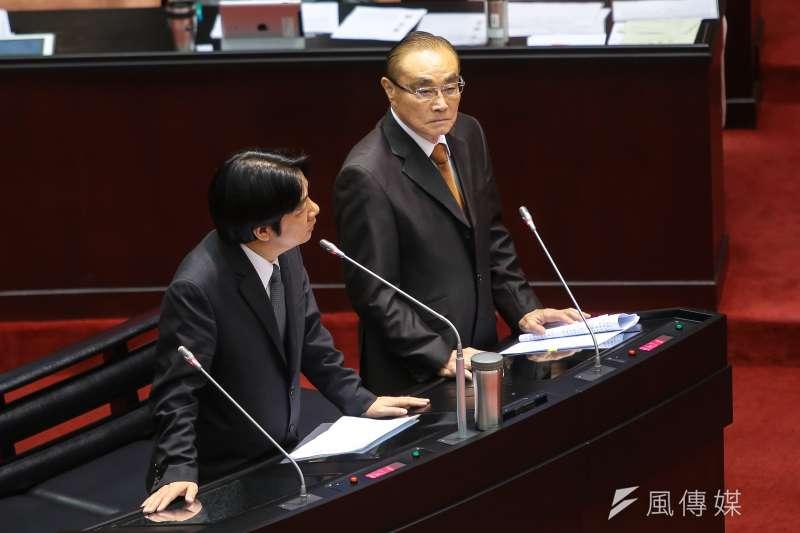 國防部長馮世寬於立院備詢。(顏麟宇攝)