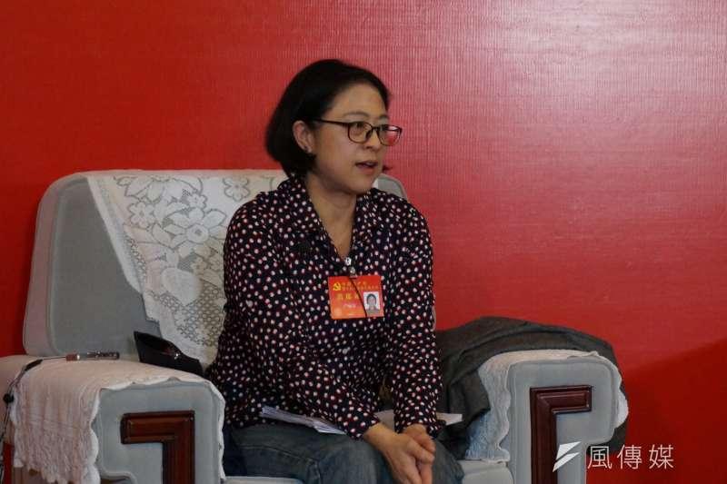 作者認為盧麗安這樣一位出生自還未解放的台灣的一位女性,當來當去也只是一個「黨代表」時,那就蠻好玩的了,筆者就不認為會是「統戰」了,甚至是「反統戰」了。(資料照,王彥喬攝)