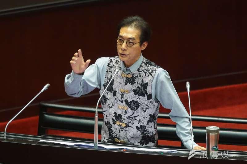 20171020-民進黨立委鍾孔炤20日於立院質詢。(顏麟宇攝)