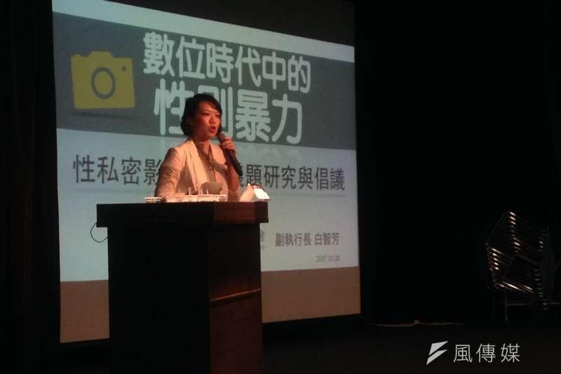 20171020-婦女救援基金會副執行長白智芳。(蔡孟筑攝)