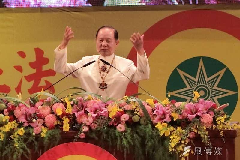 悟覺妙天受訪媒體表示,「國會政黨聯盟」(簡稱國會黨)將會力挺國民黨的韓國瑜,他更指出比起國民黨,韓粉更可能投給國會黨。(資料照,王秀禾攝)