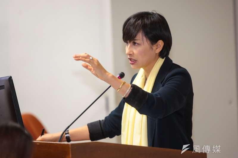 民進黨立委邱議瑩一出聲就遭駡聲,雖然倒楣但並不完全無辜。(顏麟宇攝)