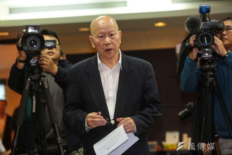 20171025-亞太基金會董事長許信良25日出席「中國十九大後-求是,兩岸和平對話-求真」記者會。(顏麟宇攝)