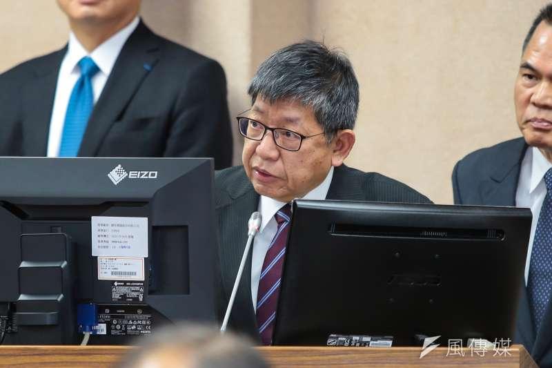 陸委會副主委林正義今(26)日至立院外交國防委員會備詢時表示,為了保護個人隱私,不會公布參加中共19大台灣人的名單。(顏麟宇攝)