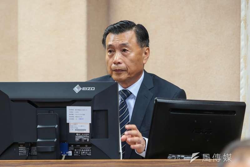 國安局長彭勝竹26日於立院外交國防委員會備詢。(顏麟宇攝)