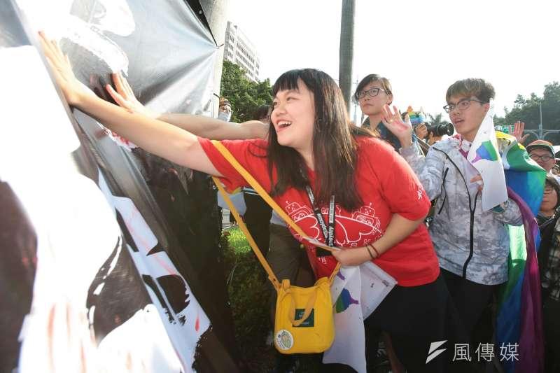 20171028-2017年台灣同志遊行Taiwan LGBT Pride,10月28日盛大登場,立院前。(顏麟宇攝)