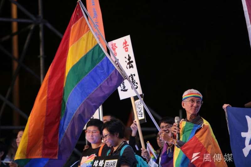20171028-2017年台灣同志遊行Taiwan LGBT Pride,10月28日盛大登場,晚會上祈家威挺同志。(顏麟宇攝)