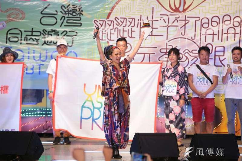 20171028-2017年台灣同志遊行Taiwan LGBT Pride,10月28日盛大登場,晚會上日本歌姬米希亞(MISIA)挺同志。(顏麟宇攝)