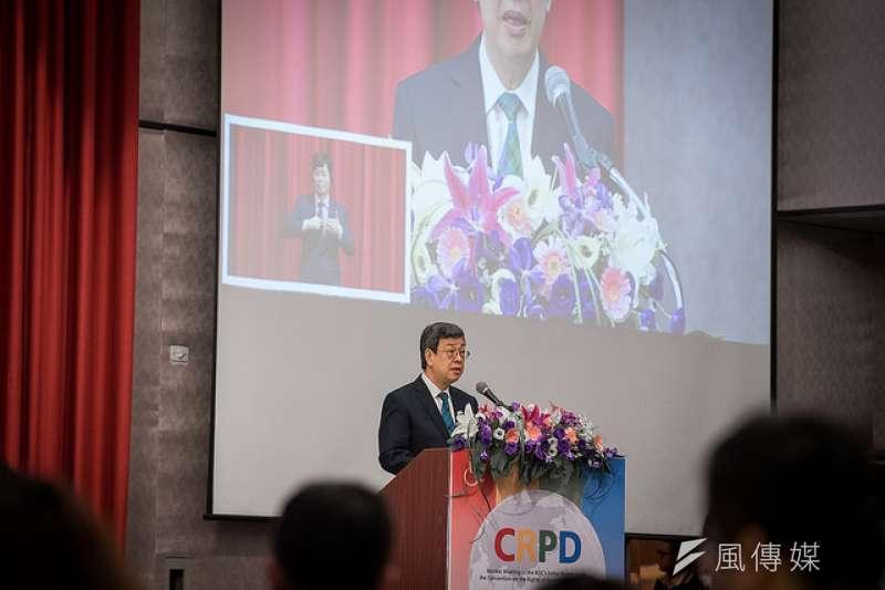 副總統陳建仁30日出席「身心障礙者權利公約初次國家報告國際審查會議」開幕式,強調政府會致力保障人權,促進台灣人權觀念的發展。(總統府提供)