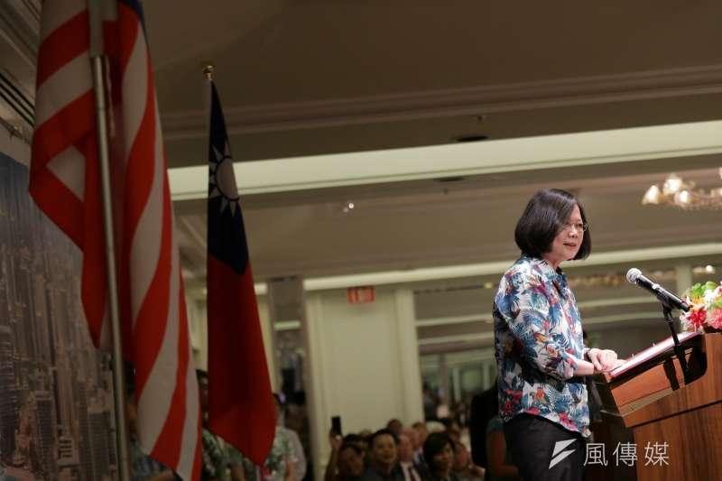 無視中國能帶台灣走出去嗎?圖為總統蔡英文出席美國夏威夷檀香山僑界午宴。(總統府提供)