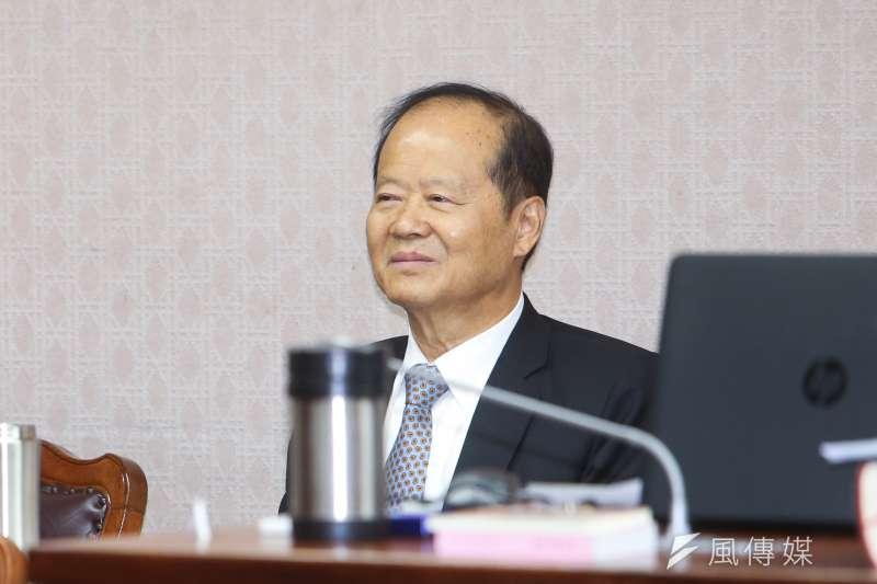 台灣省諮議會諮議長鄭永金出席立法院委員會報告並備詢。(陳明仁攝)