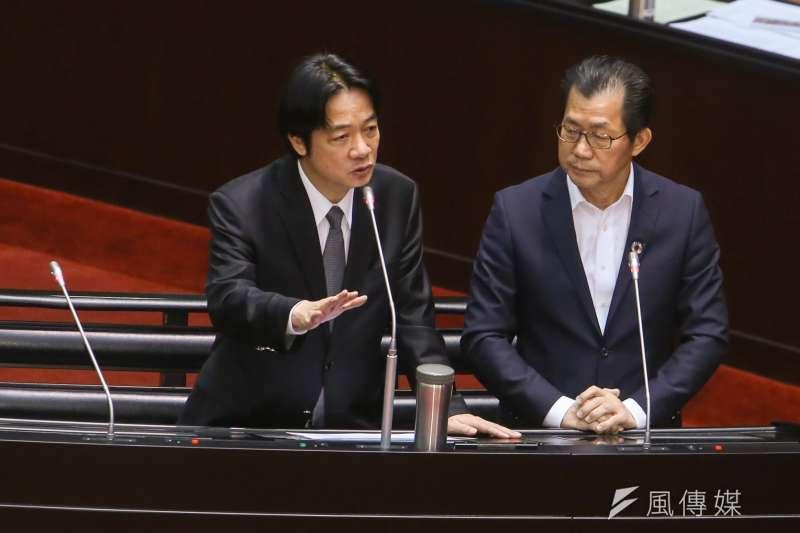 20171031-立法院會,行政院長賴清德、環保署長李應元(陳明仁攝)
