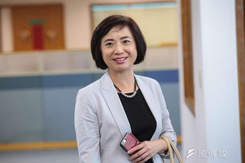20171101-民進黨立委何欣純1日出席民進黨中常會。(顏麟宇攝)
