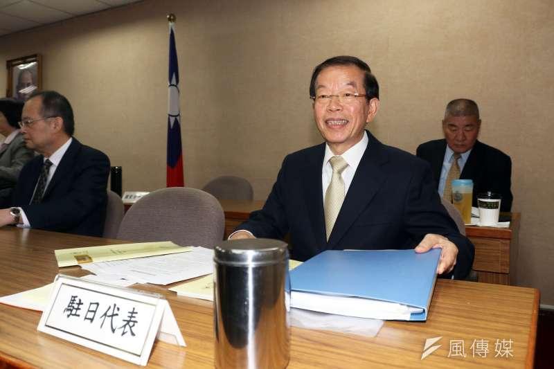 立法院外交國防委員會,駐日代表謝長廷。(蘇仲泓攝)