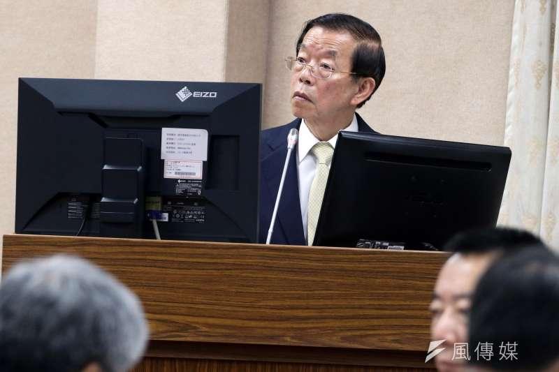 20171102-立法院外交國防委員會,駐日代表謝長廷。(蘇仲泓攝)