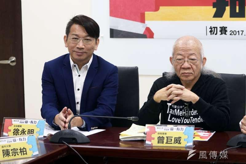 時代力量立委徐永明表示慶富造船貸款爭議,不能只辦第一銀行。(資料照片,蘇仲泓攝)