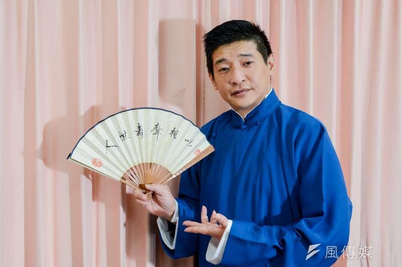 20171103-訪問吳兆南相聲劇藝社團長劉增鍇。(陳明仁攝)