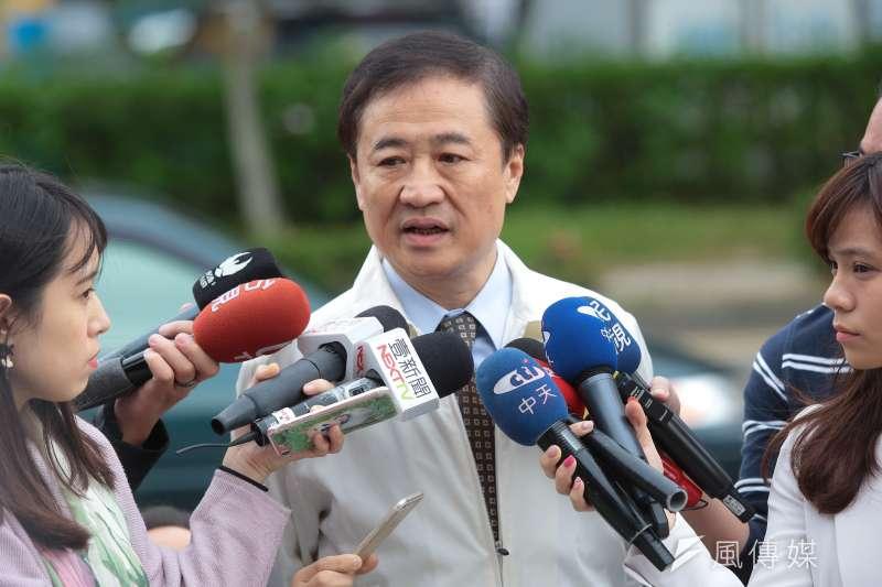 針對新北市舉債問題,台北市副市長陳景峻5日表示,舉債做建設要讓人民有感,但新北市一直原地踏步。(顏麟宇攝)