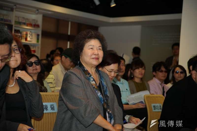 民進黨希望在年前完成不連任縣市初選民調,陳菊的態度則有關鍵影響力,圖為陳菊出席「高雄學2.0」新書發表會。(資料照片,盧逸峰攝)