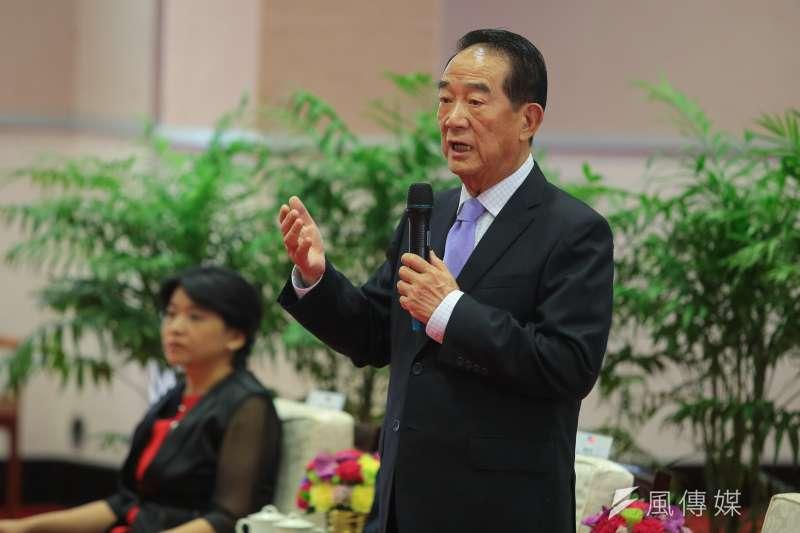 作為總統特使出席APEC領袖會議的親民黨主席宋楚瑜表示,不會刻意強調新南向政策,而是將方向調整為注重「包容性」。(資料照,顏麟宇攝)