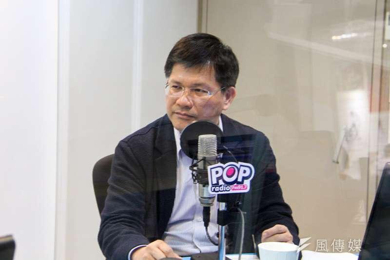 林佳龍今(8)日接受電台專訪時表示,台中市是空汙防制最成功的地方政府。(王文萱攝)