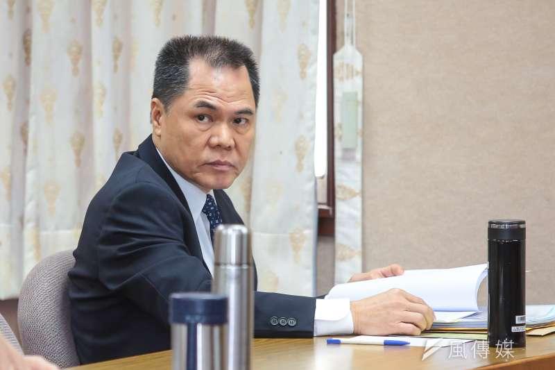 20171108-國安局副局長周美伍8日至立院備詢。(顏麟宇攝)